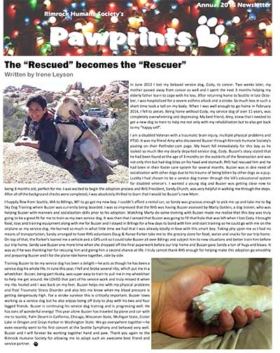 2015 Paw Prints Newsletter